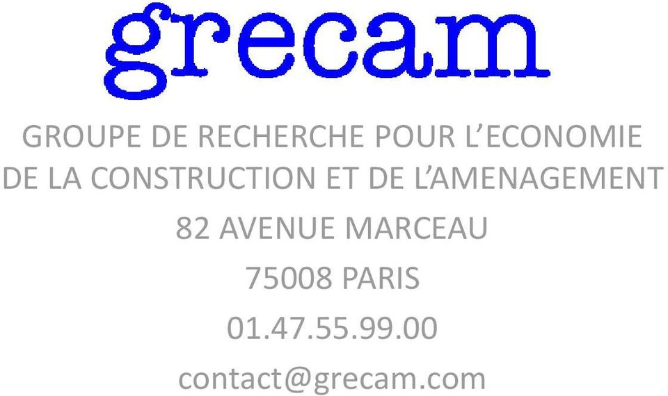 L AMENAGEMENT 82 AVENUE MARCEAU