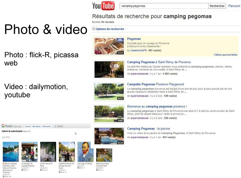 picassa web Video
