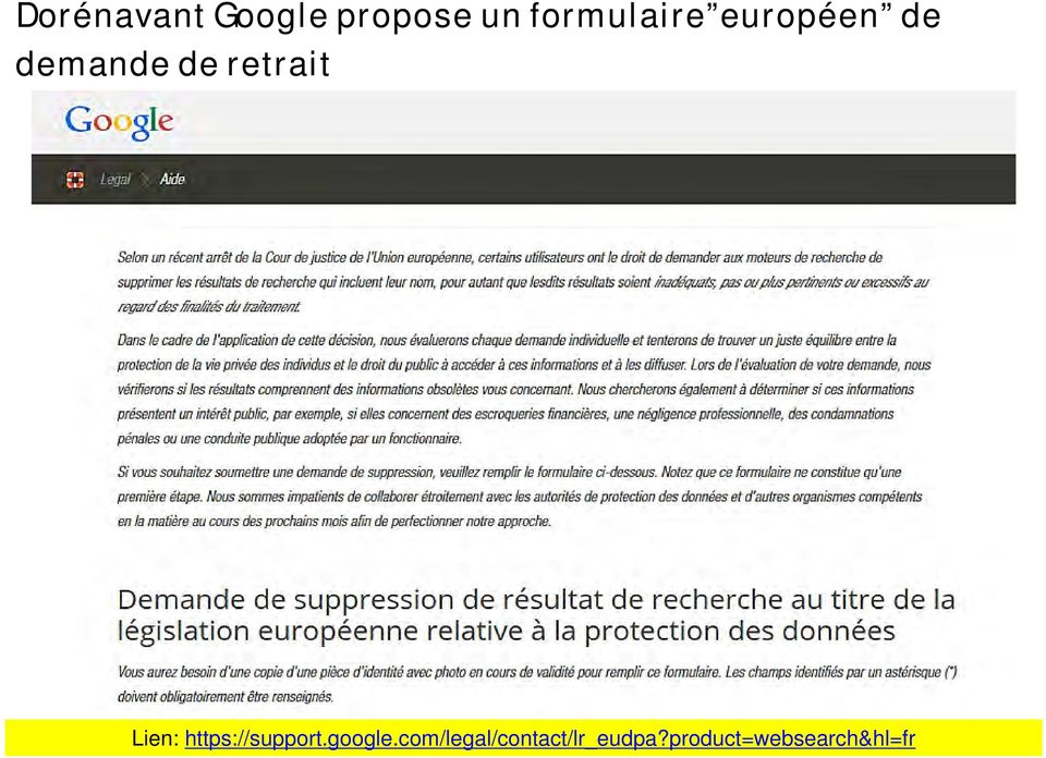 retrait Lien: https://support.google.