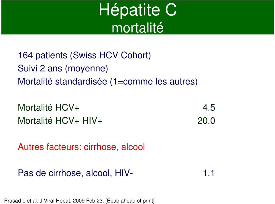 5 Mortalité HCV+ HIV+ 20.