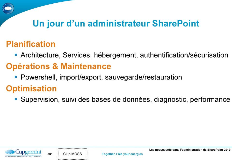 Maintenance Powershell, import/export, sauvegarde/restauration
