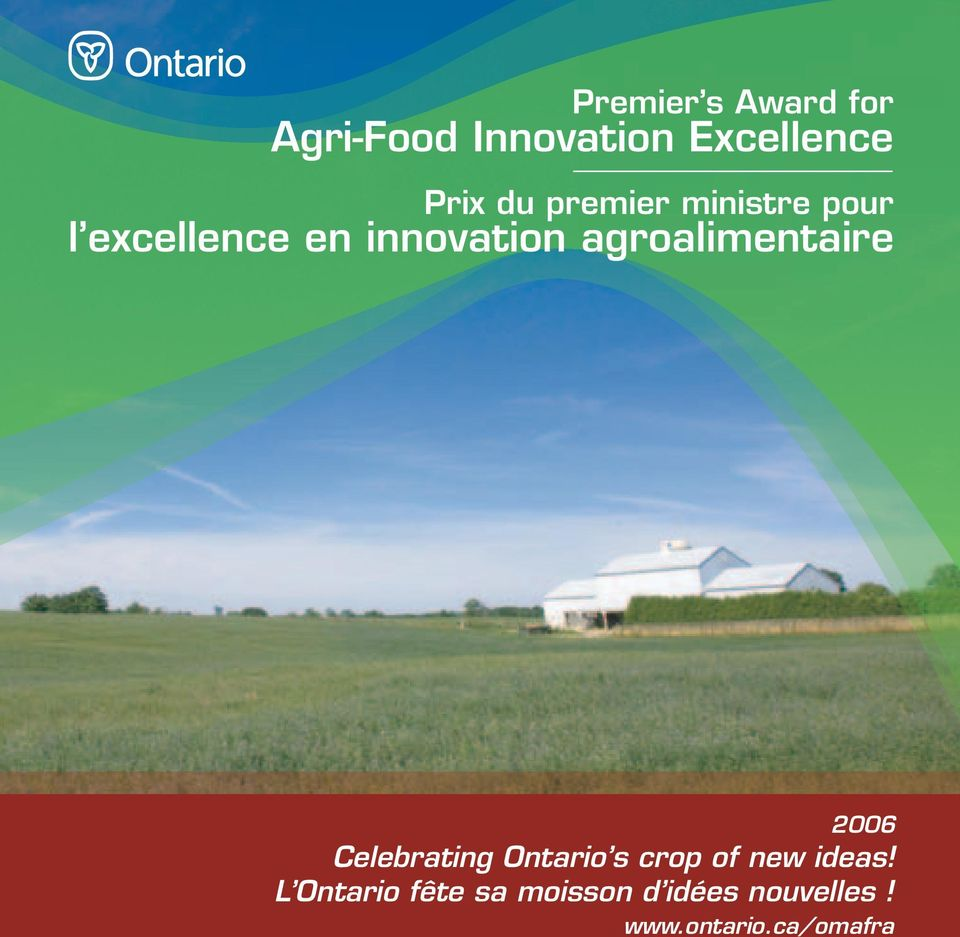 agroalimentaire 2006 Celebrating Ontario s crop of new