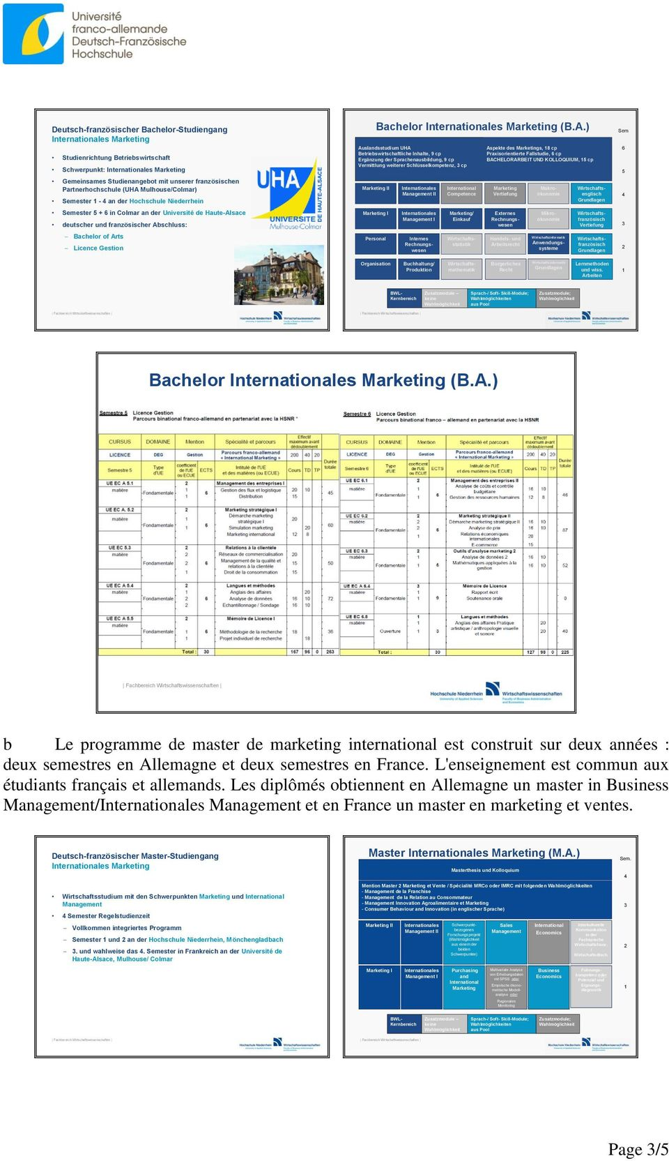 Licence Gestion Bachelor Internationales Marketing (B.A.