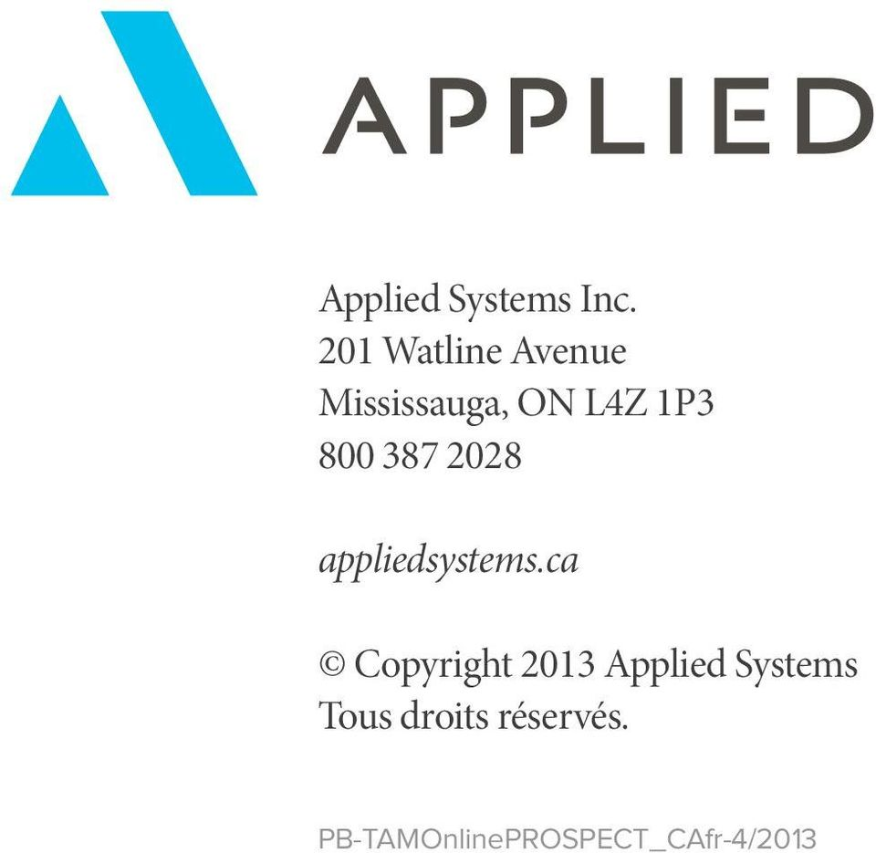 800 387 2028 appliedsystems.