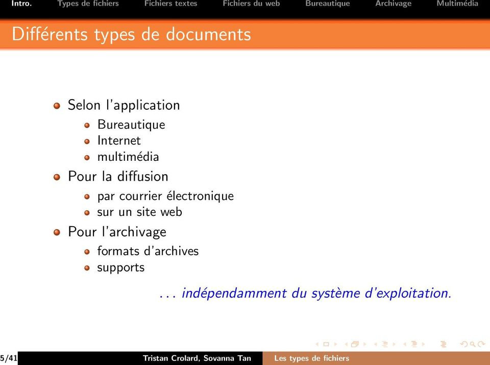 Pour l archivage formats d archives supports.