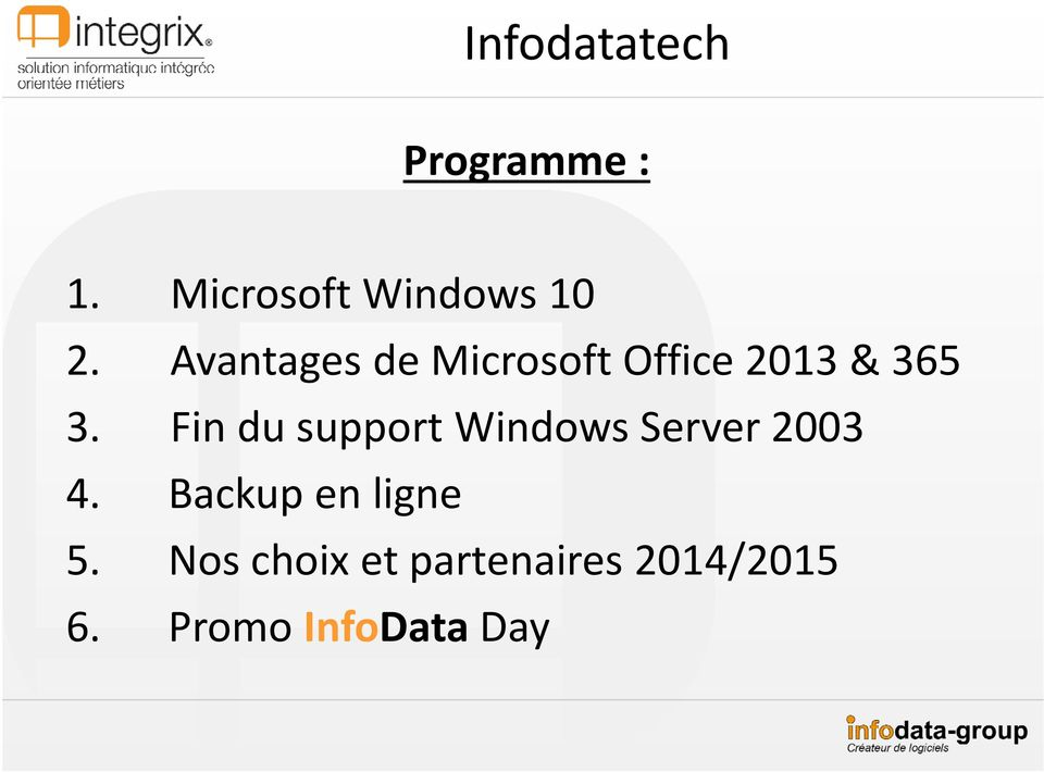 Fin du support Windows Server 2003 4.