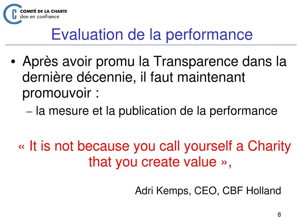 la publication de la performance «It is not because you call