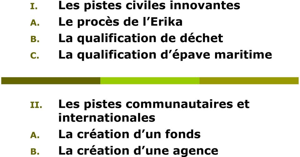 La qualification d épave maritime II.