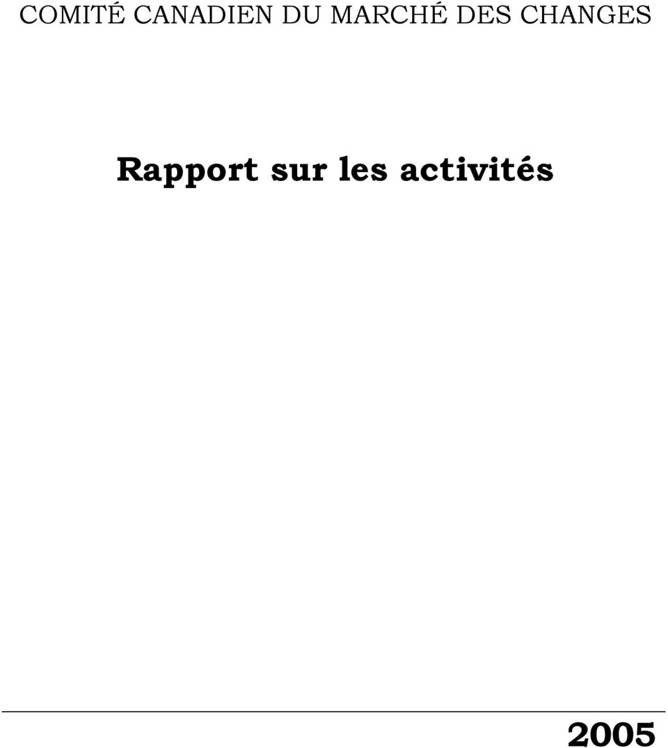 CHANGES Rapport
