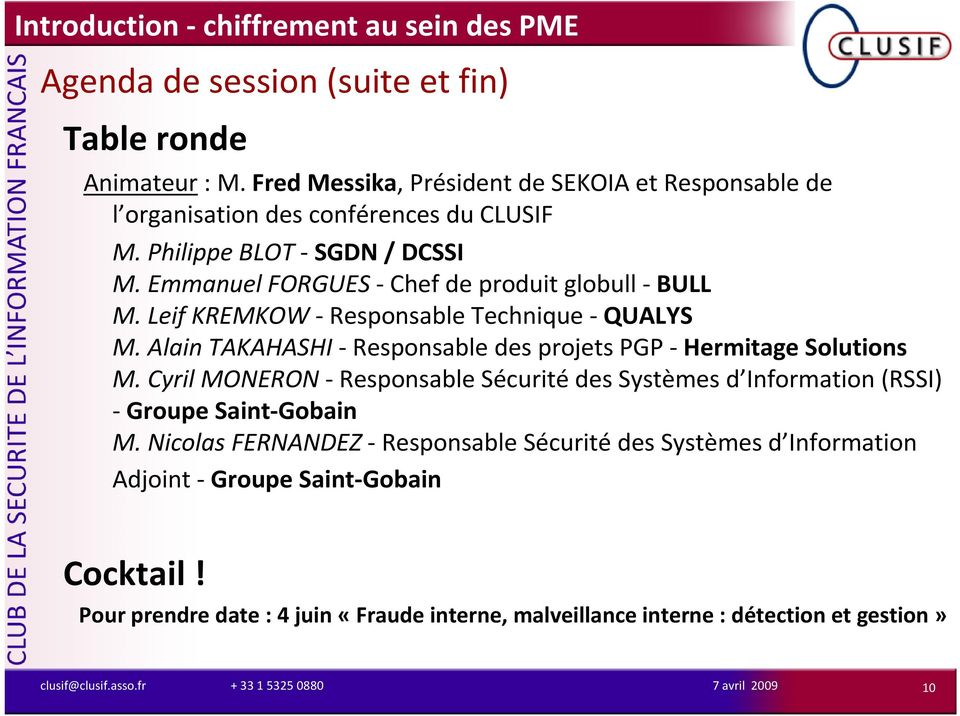 Alain TAKAHASHI- Responsable des projets PGP - Hermitage Solutions M.