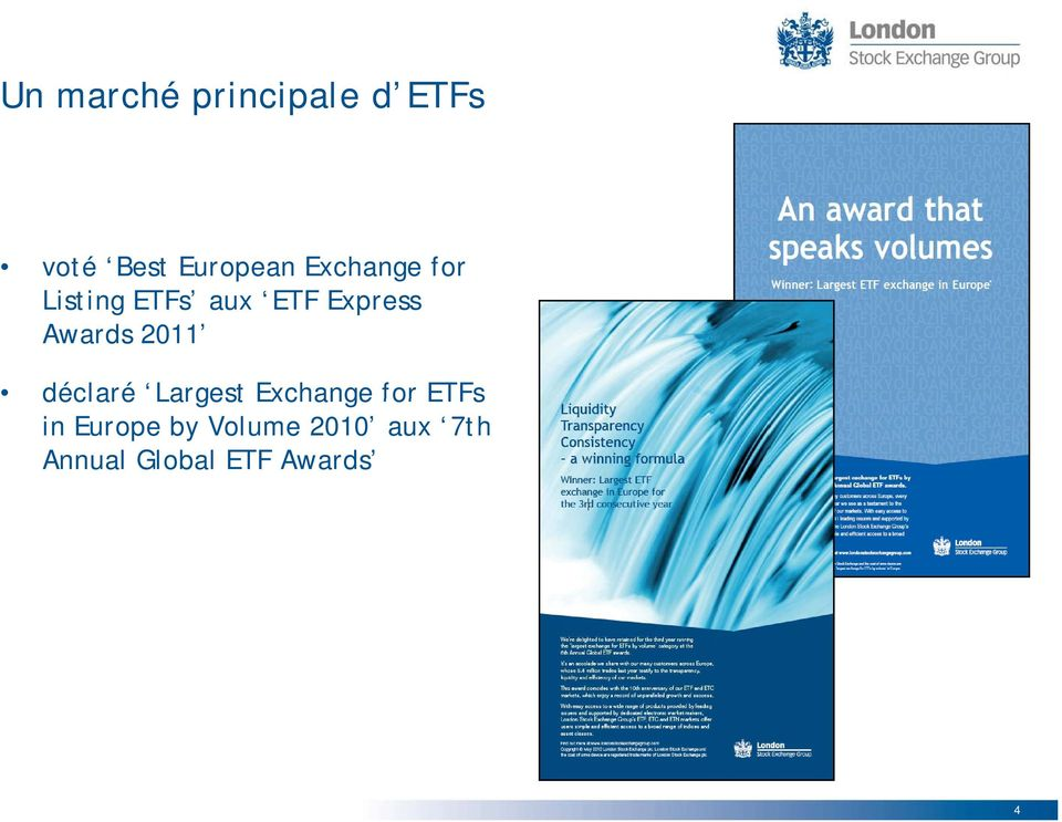 2011 déclaré Largest Exchange for ETFs in Europe