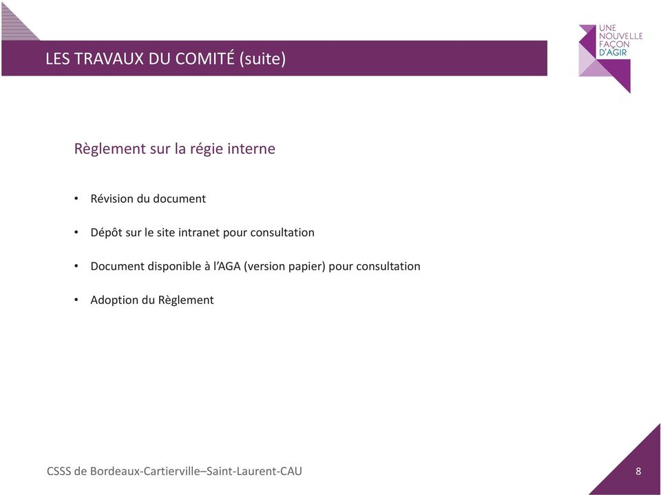 intranet pour consultation Document disponible à l