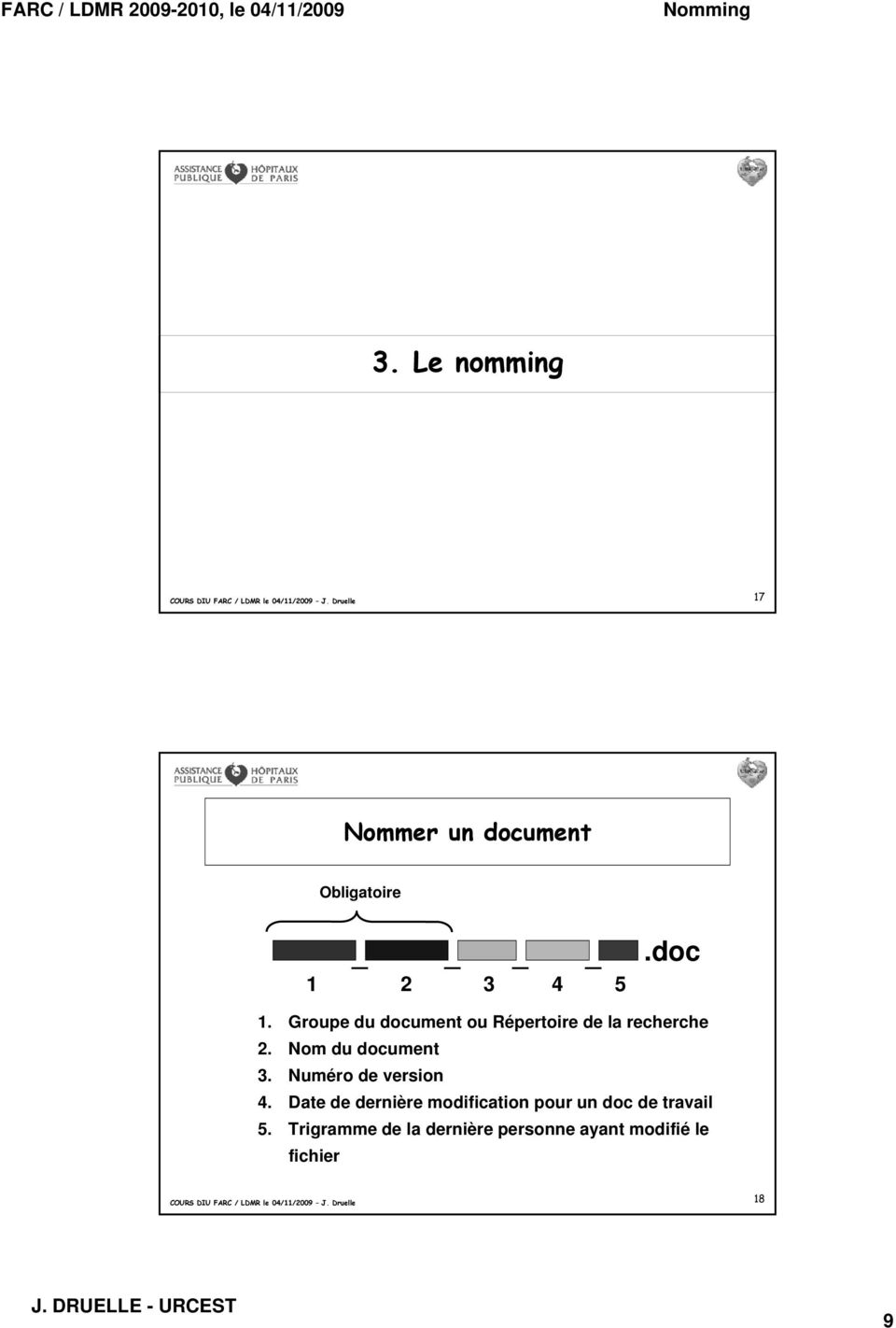 Nom du document 3. Numéro de version 4.