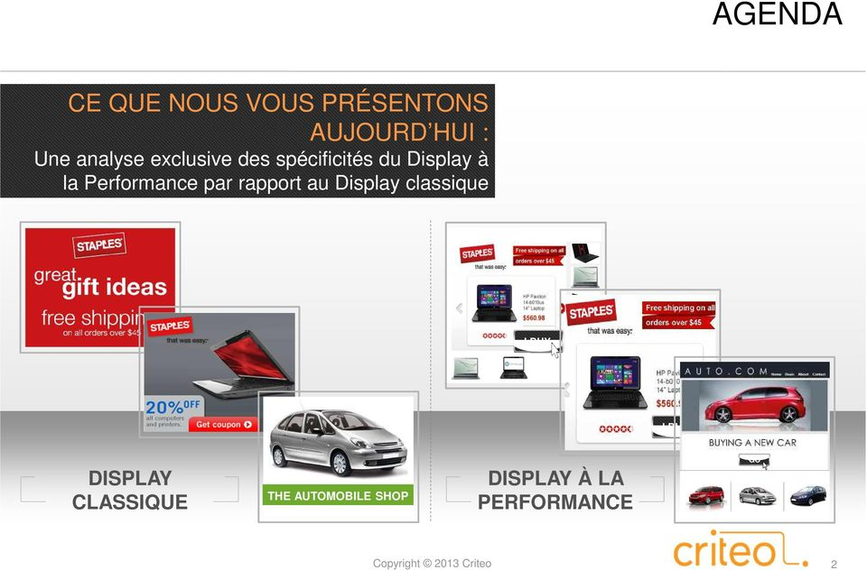 Performance par rapport au Display classique I BUY I BUY
