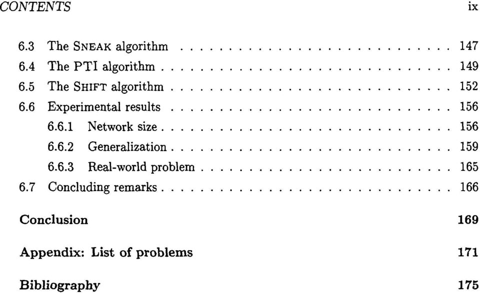 .. 6.6.3 Real-world problem 165... 6.7 Concluding remarks 166 Conclusion 169