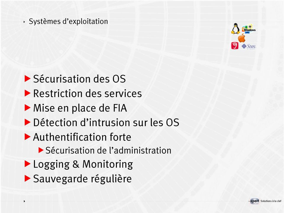 Détection d intrusion sur les OS Authentification