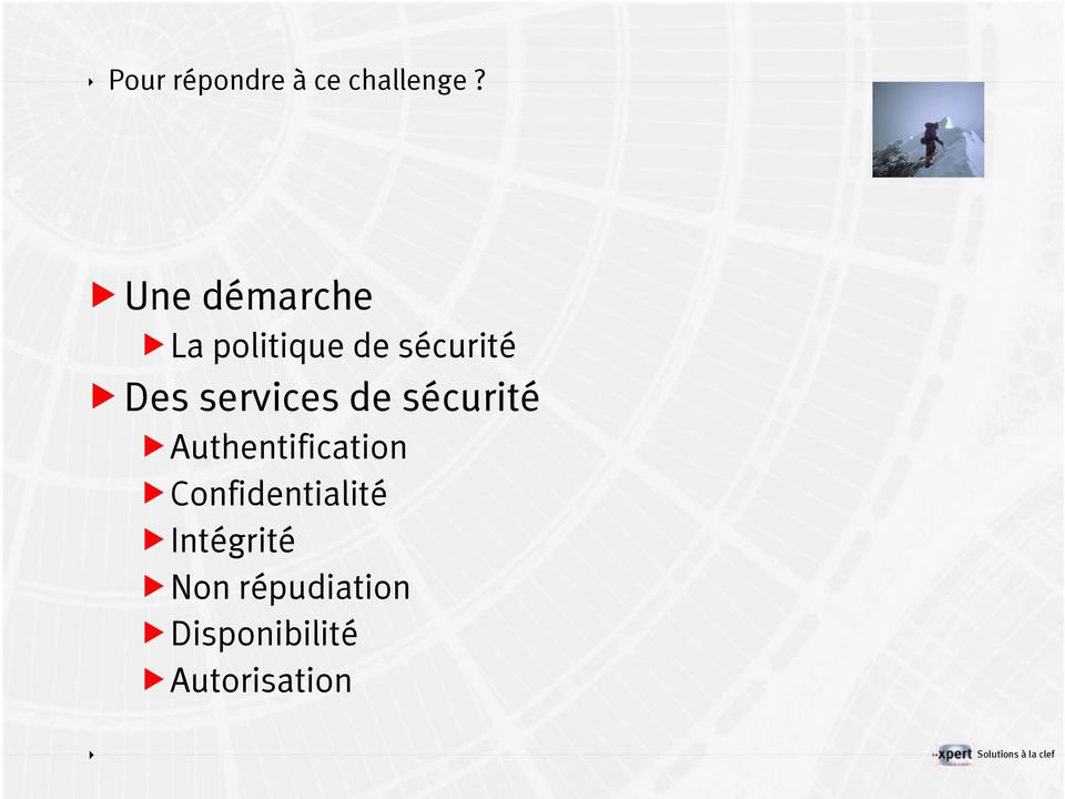 services de sécurité Authentification