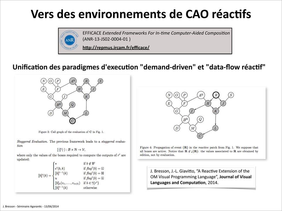 "fr/efficace/ Unifica'on des paradigmes d'execu'on ""demand- driven"" et ""data- flow réac'f"" J."