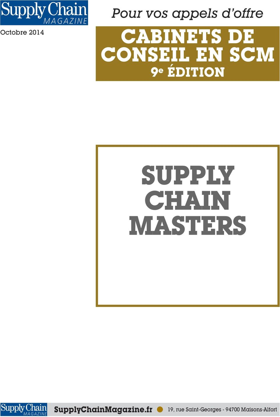 SUPPLY CHAIN MASTERS SupplyChainMagazine.