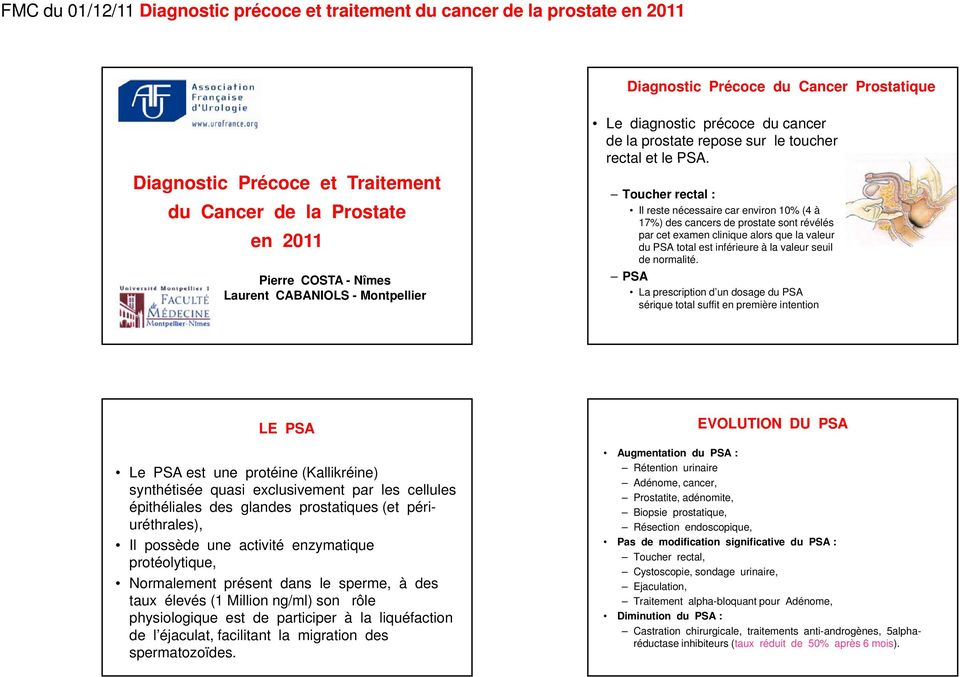 toucher rectal cancer de la prostate