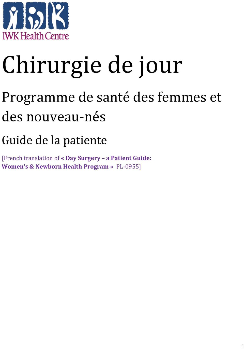 translation of «Day Surgery a Patient