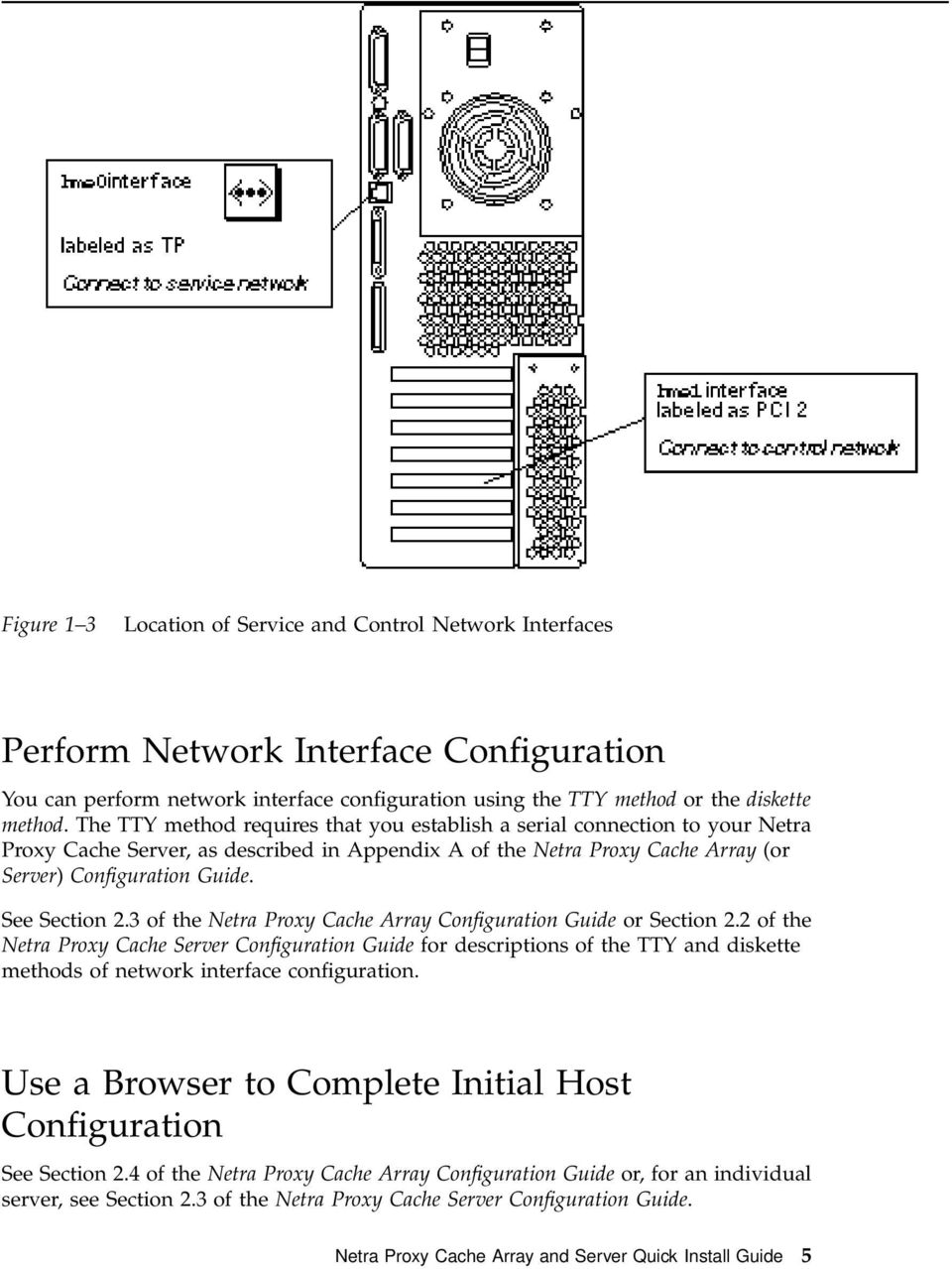 See Section 2.3 of the Netra Proxy Cache Array Configuration Guide or Section 2.