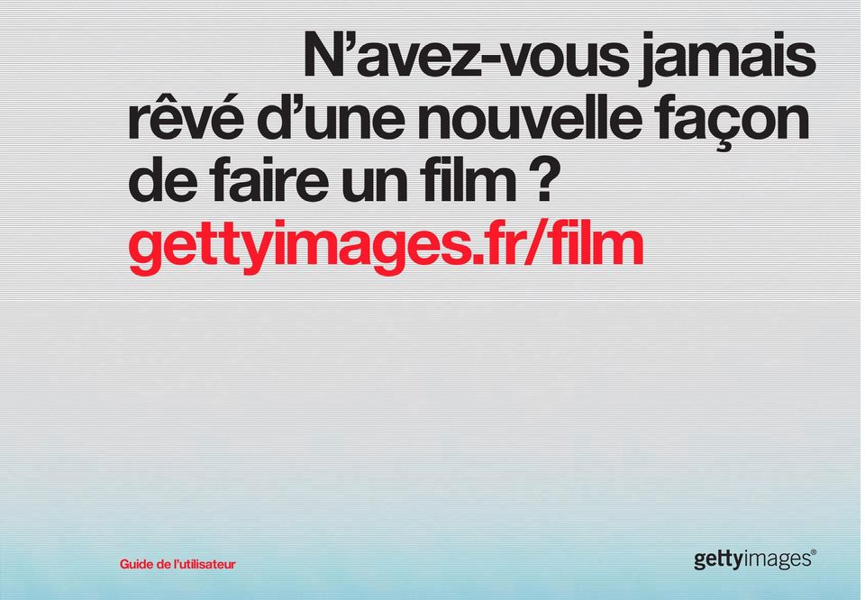 faire un film? gettyimages.