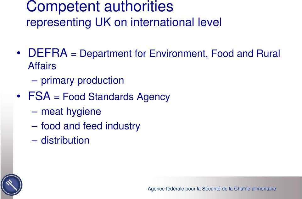Environment, Food and Rural Affairs primary