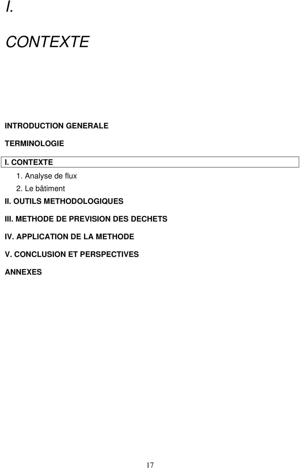 OUTILS METHODOLOGIQUES III.