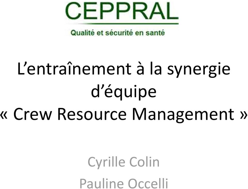 «CrewResource