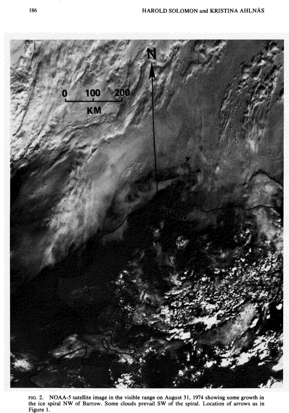 1, 1974 showing some growth in the ice spiral NW of