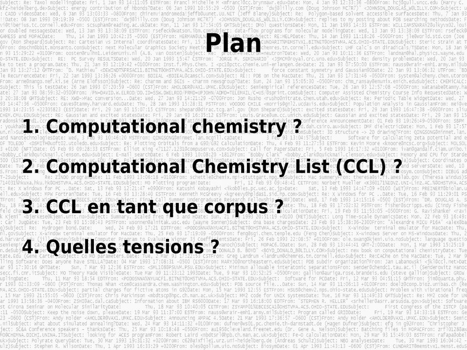 Computational Chemistry List