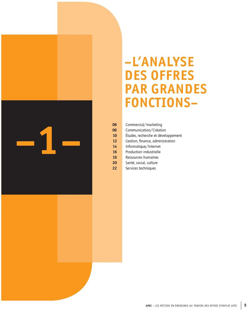 administration 14 Informatique/Internet 16 Production industrielle 18 Ressources humaines