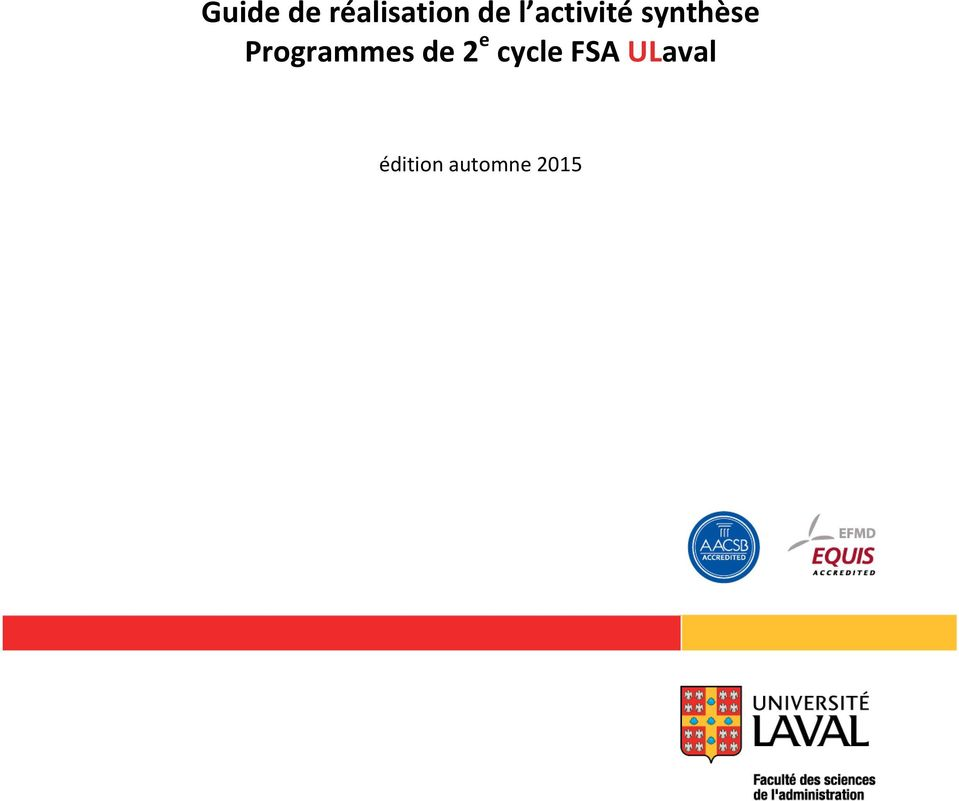 Programmes de 2 e cycle