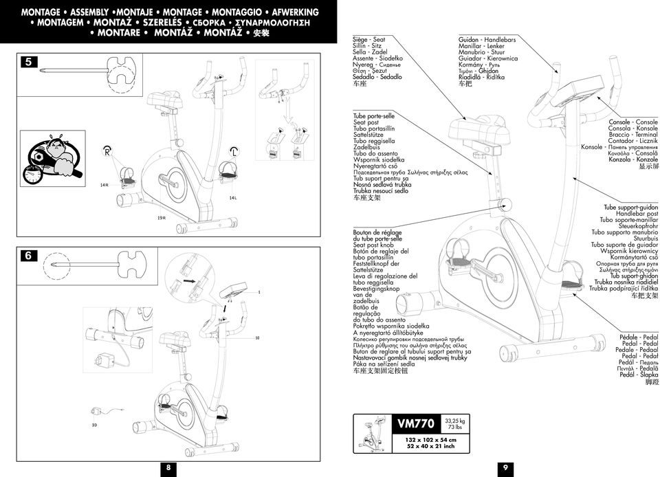 Vm 770 vm 770 notice d utilisation operating instructions - Notice de montage banc de musculation domyos hg050 ...