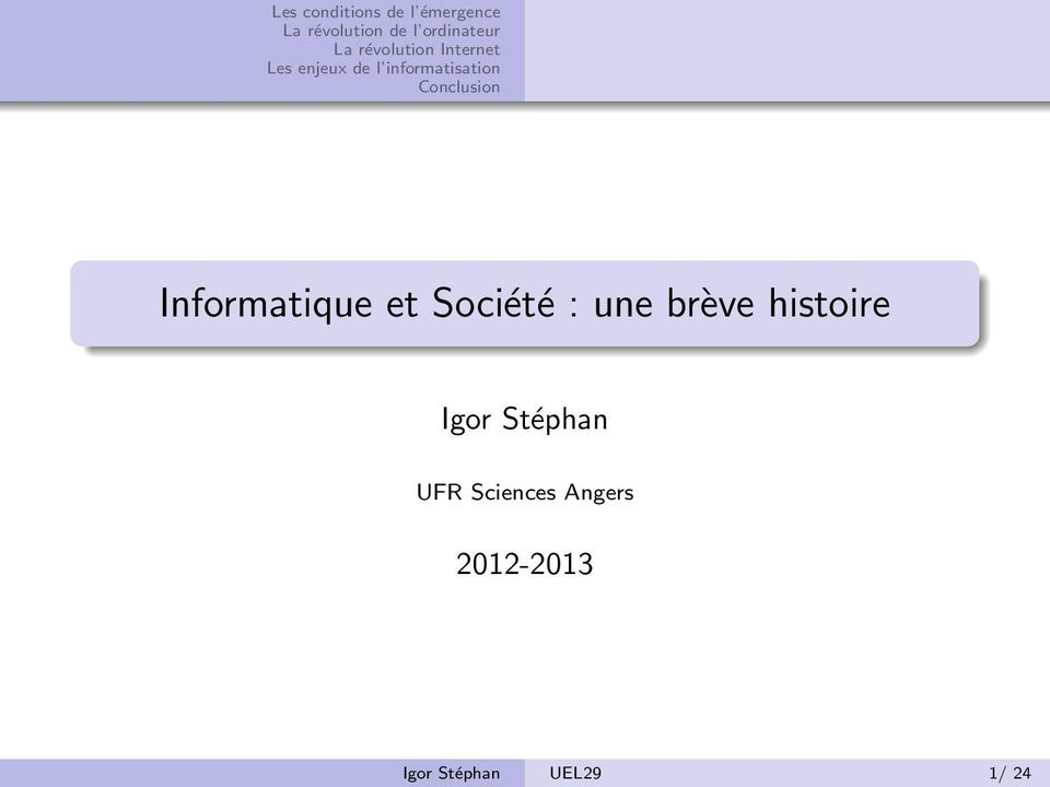 Stéphan UFR Sciences Angers