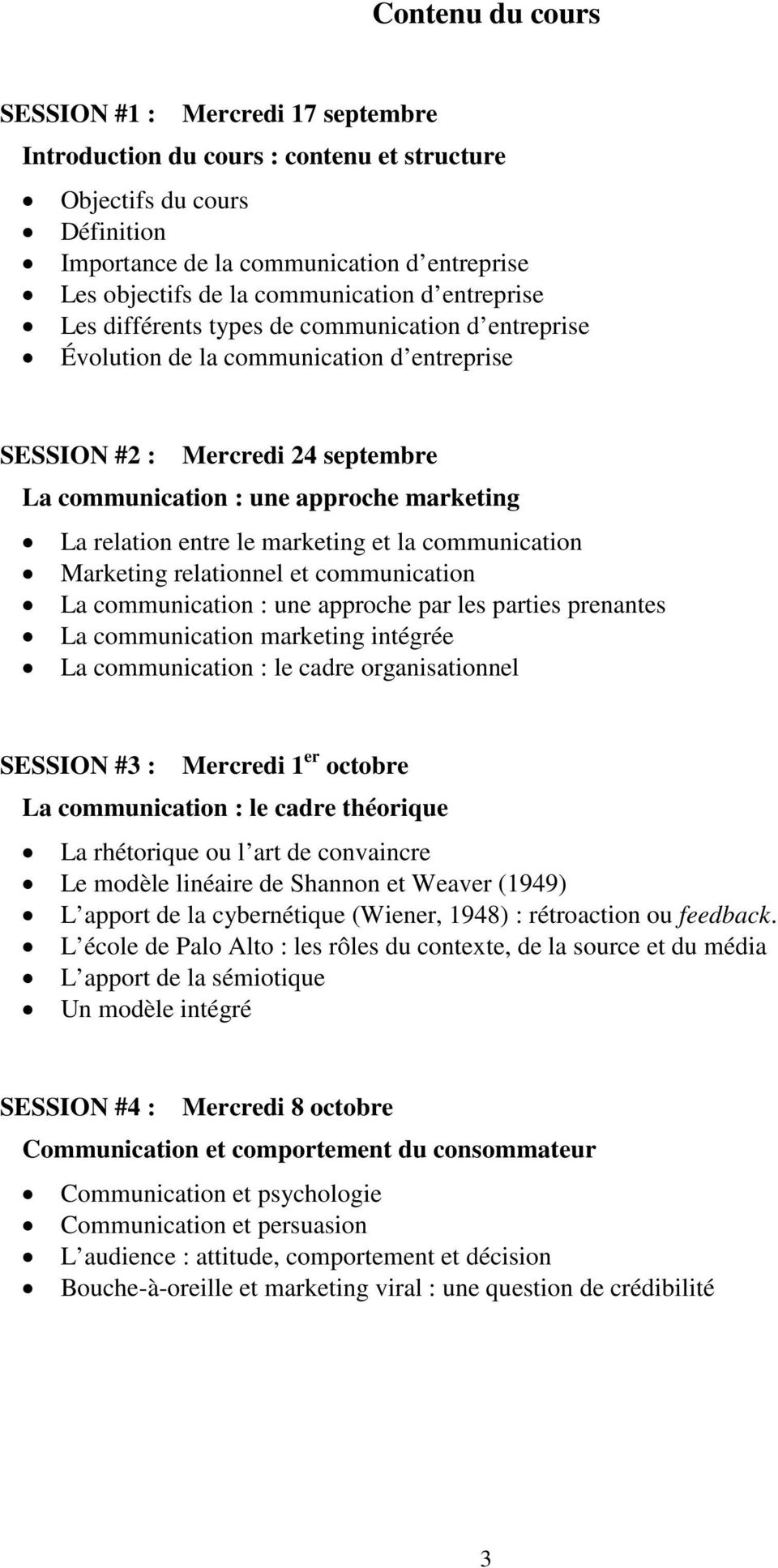 La relation entre le marketing et la communication Marketing relationnel et communication La communication : une approche par les parties prenantes La communication marketing intégrée La
