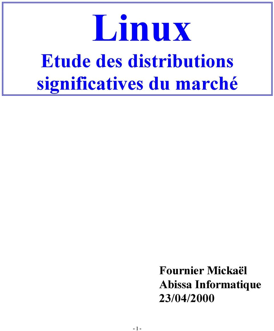 significatives du marché