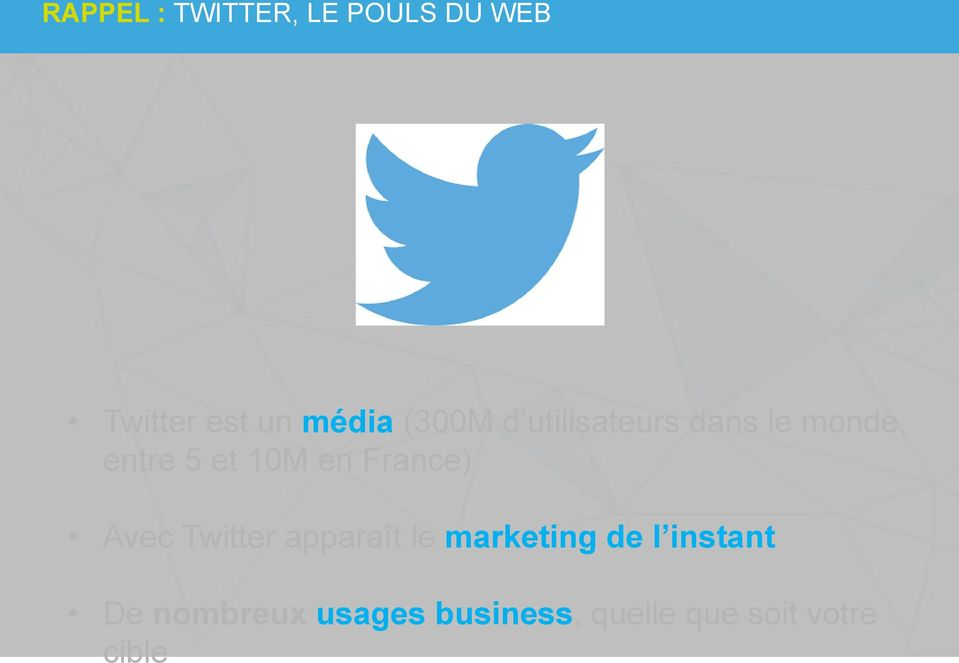 France) Avec Twitter apparaît le marketing de l instant