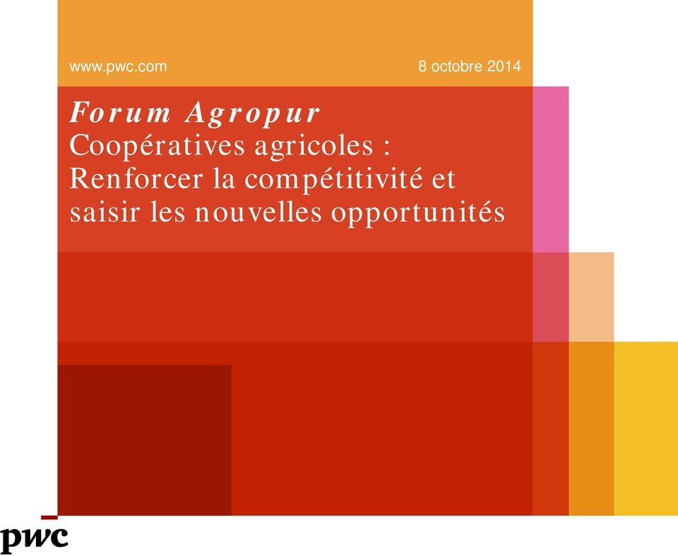 Coopératives agricoles :