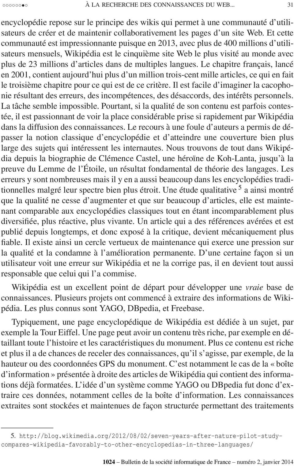articles dans de multiples langues.