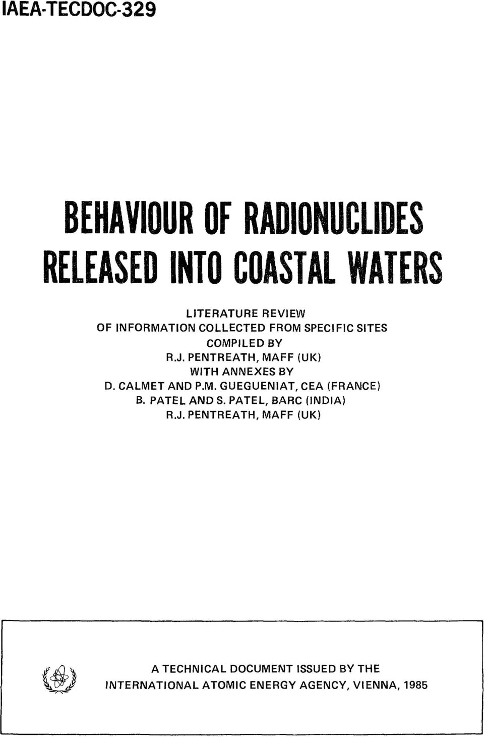 RADIONUCLIDES RELEASED