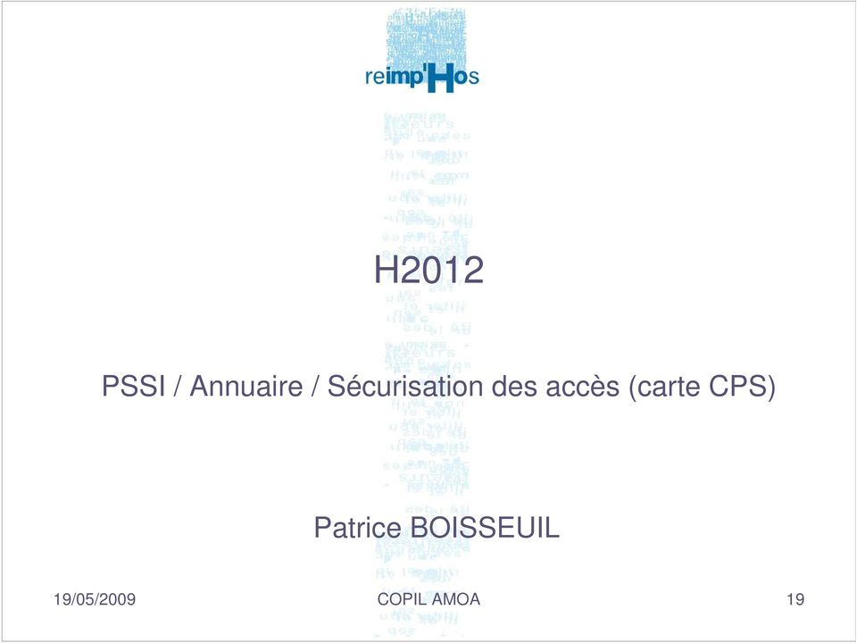 (carte CPS) Patrice