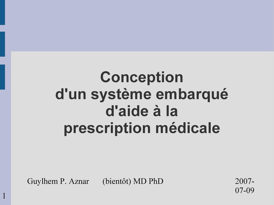 prescription médicale 1