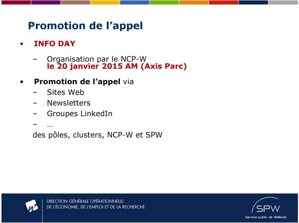 Promotion de l appel via Sites Web Newsletters
