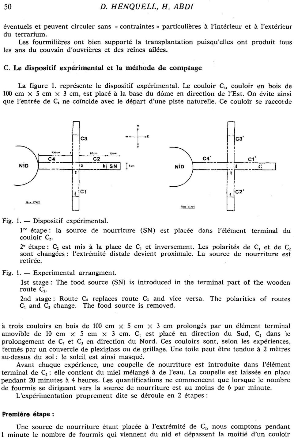 Le dispositif exp6rimental et la mdthode de comptage La figure 1. repr6sente le dispositif exp6rimental.