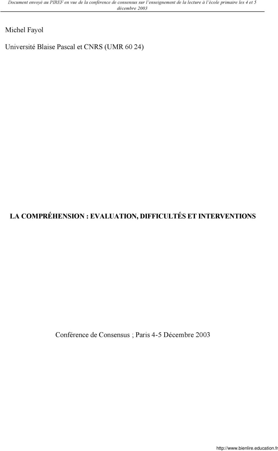 EVALUATION, DIFFICULTÉS ET INTERVENTIONS