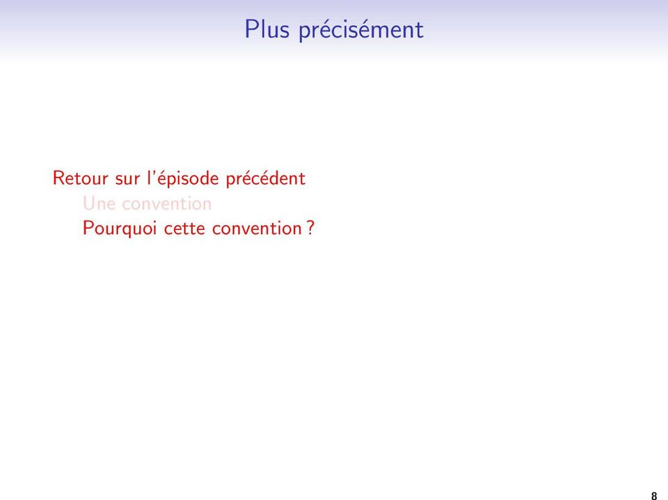 convention Pourquoi