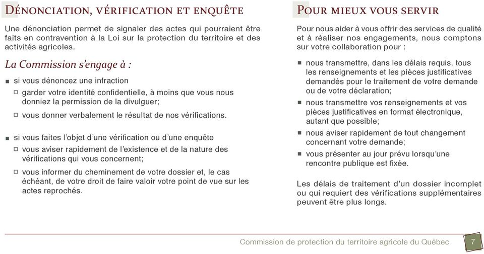 nos vérifications.