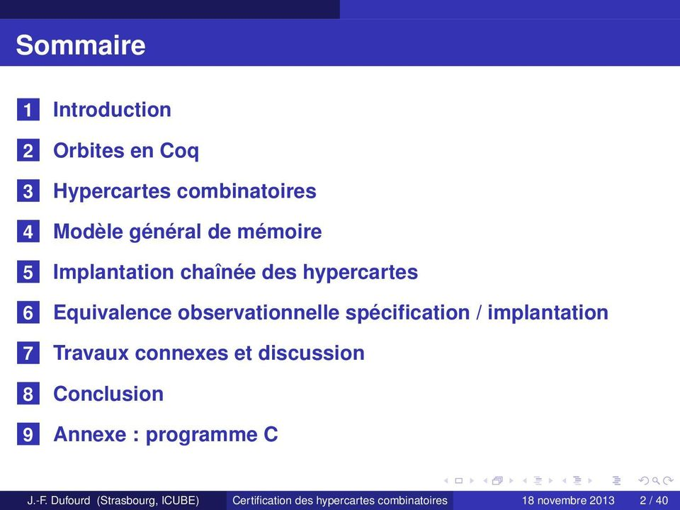 / implantation 7 Travaux connexes et discussion 8 Conclusion 9 Annexe : programme C J.-F.